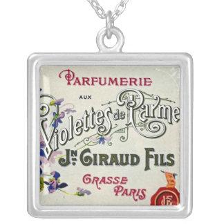 Etiqueta del perfume de Violette del francés Colgante