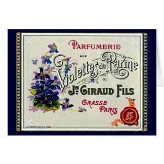 Etiqueta del perfume de Violette del francés Tarjeta De Felicitación