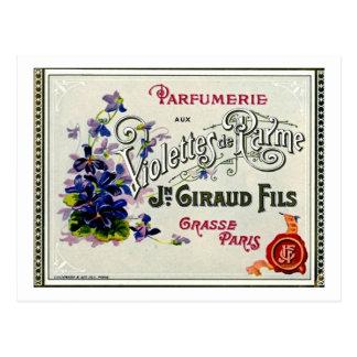 Etiqueta del perfume de Violette del francés Postal