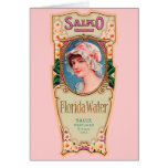 Etiqueta del perfume del agua de Salko la Florida  Felicitación