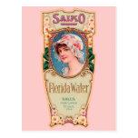Etiqueta del perfume del agua de Salko la Florida  Tarjeta Postal