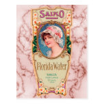 Etiqueta del perfume del agua de Salko la Florida  Tarjetas Postales