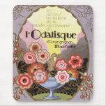 Etiqueta del perfume del Odalisque del l del art Alfombrilla De Ratón