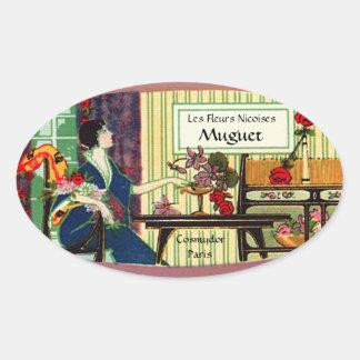Etiqueta del perfume del vintage - señora francesa