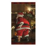 Etiqueta del perrito del navidad de Santas Tarjetas De Negocios