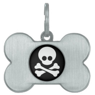 Etiqueta del perro y del gato del pirata placas de mascota