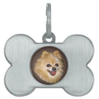 Etiqueta del personalizable del perro de Pomerania Placas De Mascota