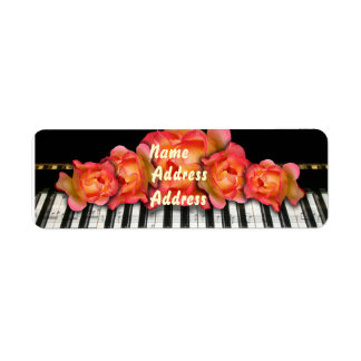 Etiqueta del piano de los rosas del teclado etiquetas de remite