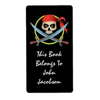 etiqueta del pirata del cráneo 3D Etiquetas De Envío