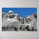 Etiqueta del poster w/No del monte Rushmore