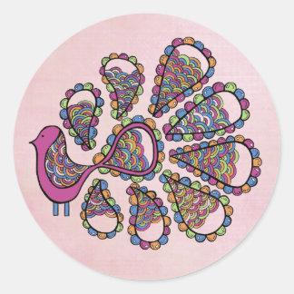Etiqueta del primero de la magdalena del rosa DIY
