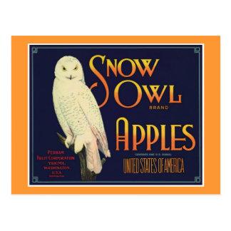 Etiqueta del producto alimenticio de las manzanas postales