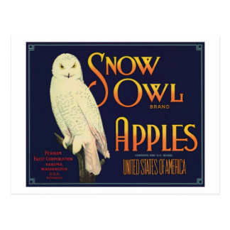 Etiqueta del producto alimenticio de las manzanas postal
