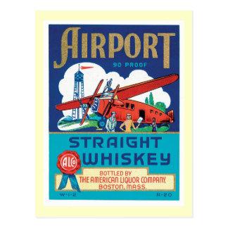Etiqueta del producto alimenticio del whisky del tarjeta postal