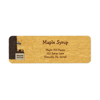 Etiqueta del producto de la etiqueta del jarabe de etiquetas de remite