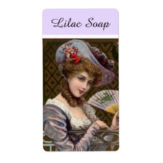 Etiqueta del producto de la mujer del jabón de la etiqueta de envío