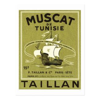 Etiqueta del producto del licor del vino del tarjetas postales