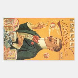 Etiqueta del producto del vintage, cigarrillos