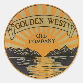 Etiqueta del producto del vintage; Golden West Oil