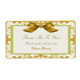 Etiqueta del regalo etiqueta de envío