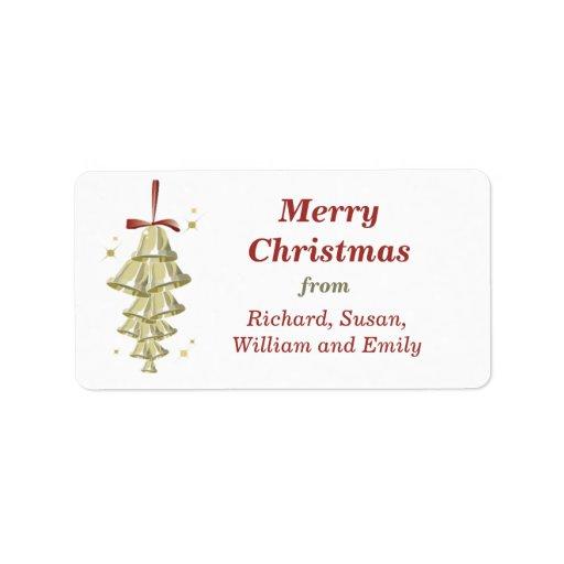 Etiqueta del regalo de Belces de navidad Etiqueta De Dirección