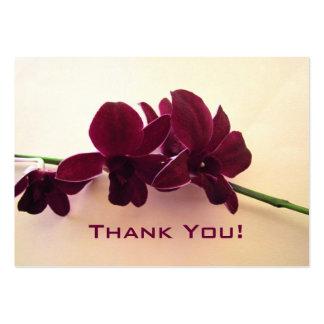 Etiqueta del regalo de boda de las orquídeas de Bo Tarjeta De Visita