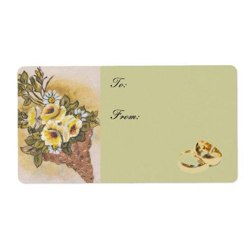 etiqueta del regalo de boda etiqueta de envío
