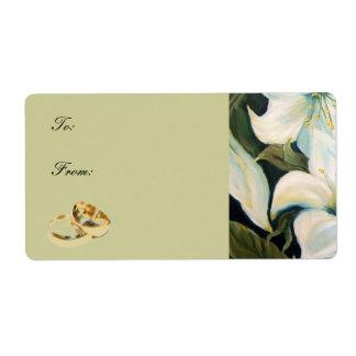 etiqueta del regalo de boda etiquetas de envío