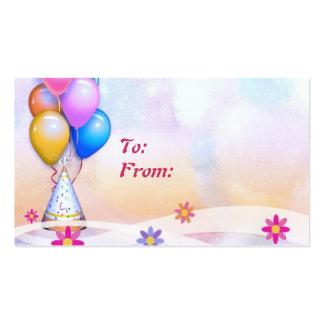 Etiqueta del regalo de cumpleaños tarjetas de visita