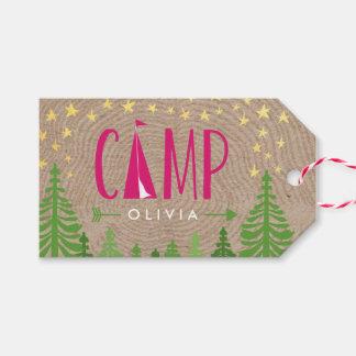 Etiqueta del regalo de Glamping Etiquetas Para Regalos