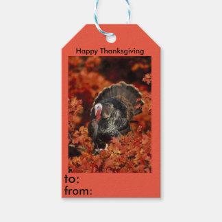 Etiqueta del regalo de la acción de gracias de Tom Etiquetas Para Regalos