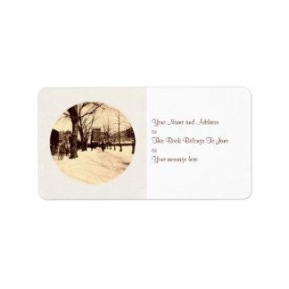 Etiqueta del regalo de la dirección del navidad de etiquetas de dirección