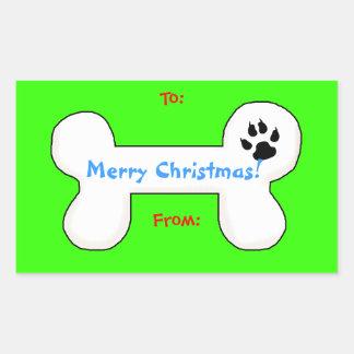 Etiqueta del regalo de la diversión del navidad