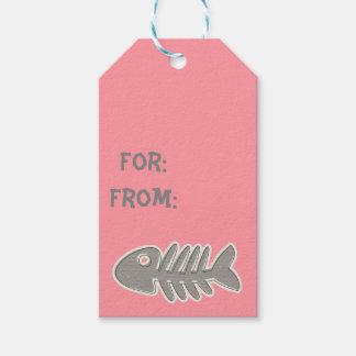Etiqueta del regalo de la espina de pez etiquetas para regalos