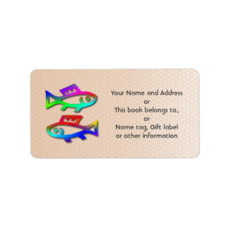 Etiqueta del regalo de la etiqueta del nombre de l etiqueta de dirección