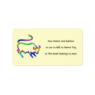 Etiqueta del regalo de la etiqueta del nombre del  etiqueta de dirección