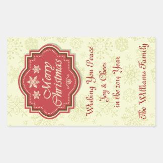 Etiqueta del regalo de la etiqueta del vino de las