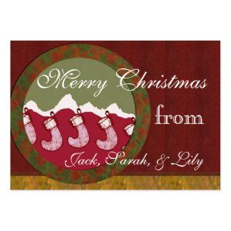 Etiqueta del regalo de la familia del navidad de tarjetas de visita grandes