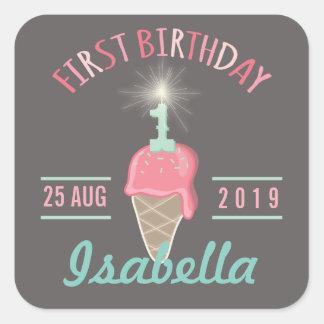 Etiqueta del regalo de la fiesta de cumpleaños del