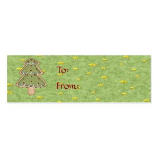 Etiqueta del regalo de la galleta del navidad tarjetas de visita mini