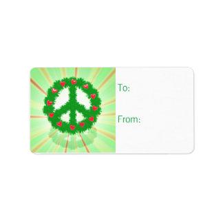 Etiqueta del regalo de la guirnalda de los corazon etiquetas de dirección