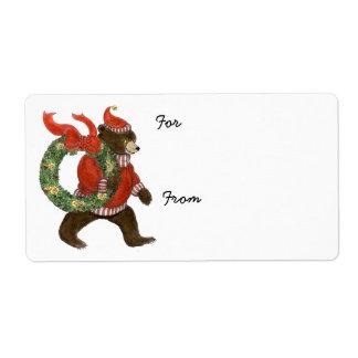 Etiqueta del regalo de la guirnalda del navidad etiquetas de envío