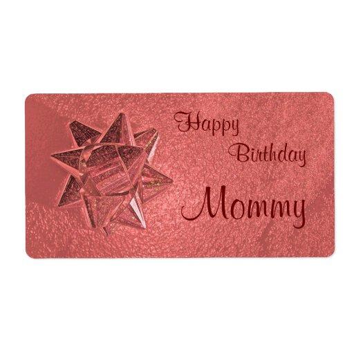 Etiqueta del regalo de la mamá del feliz etiquetas de envío