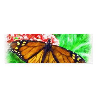 Etiqueta del regalo de la mariposa tarjetas de visita mini