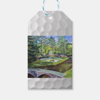 Etiqueta del regalo de la pintura de Golfland Etiquetas Para Regalos