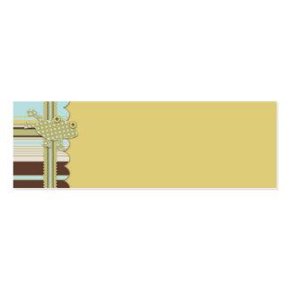 Etiqueta del regalo de la rana del lunar y de la tarjetas de visita mini