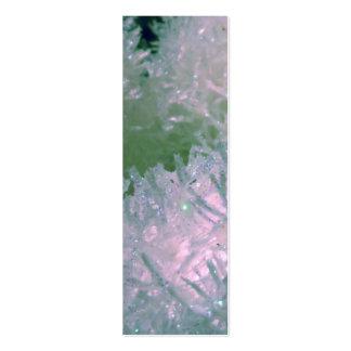 Etiqueta del regalo de las bolas de la nieve tarjetas de visita mini