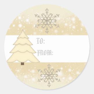 Etiqueta del regalo de las escamas de la nieve del