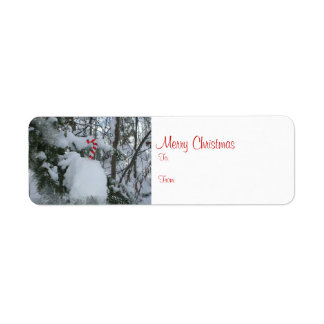 Etiqueta del regalo de las Felices Navidad Etiqueta De Remitente