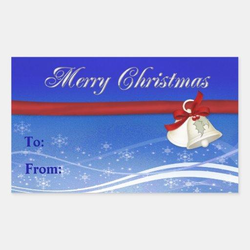 Etiqueta del regalo de las Felices Navidad